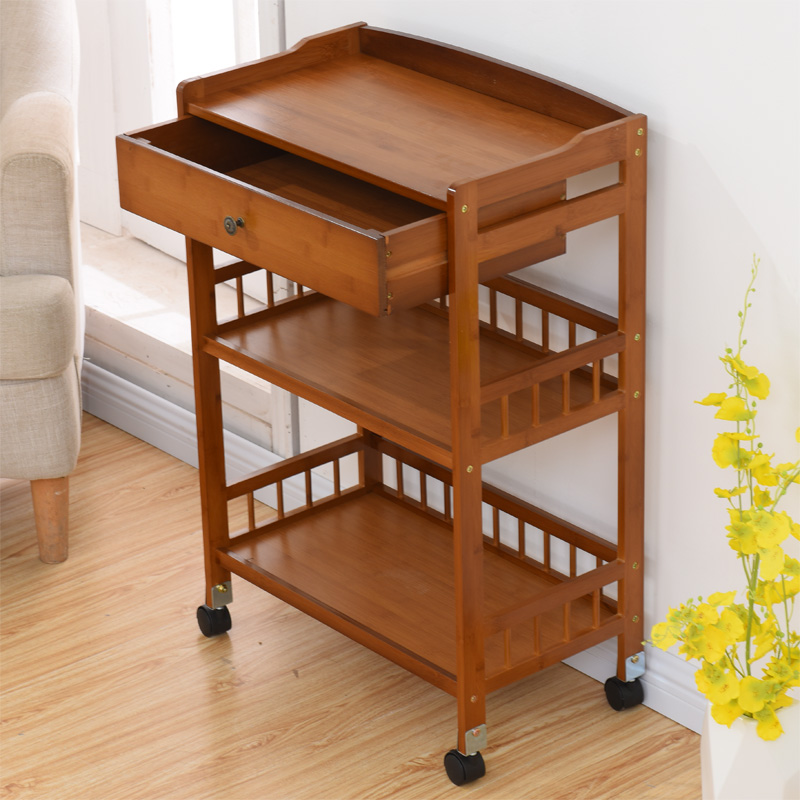 Movable sofa corner small tea table tea holder living room side cabinet storage cabinet with wheel small tea table corner table