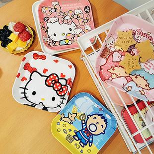 可愛卡通乾果小盤子水果盤創意點心盤餐具零食盤餐桌垃圾盤
