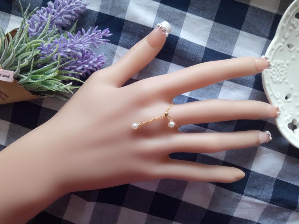 淡水珍珠美国14K包金个性女戒指多款锆石可调节饰品订做新品包邮