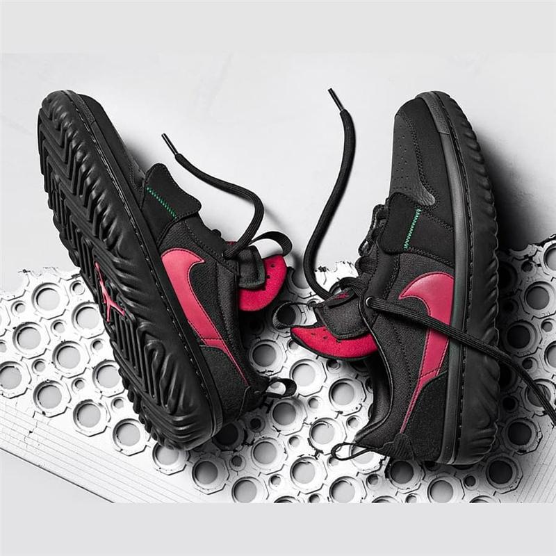 代购Ghetto Gastro x Jordan 1 Fearless 黑红 篮球鞋 CT6416-001