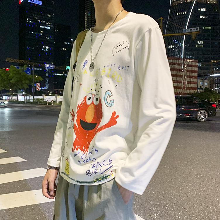 204-T03-P20 有视频 ins 春夏季男士短袖t恤韩版潮流长袖上衣服
