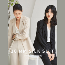 Salome and relaxed! 30mm elastic heavy crepe gent woman silk suit coat wt0289