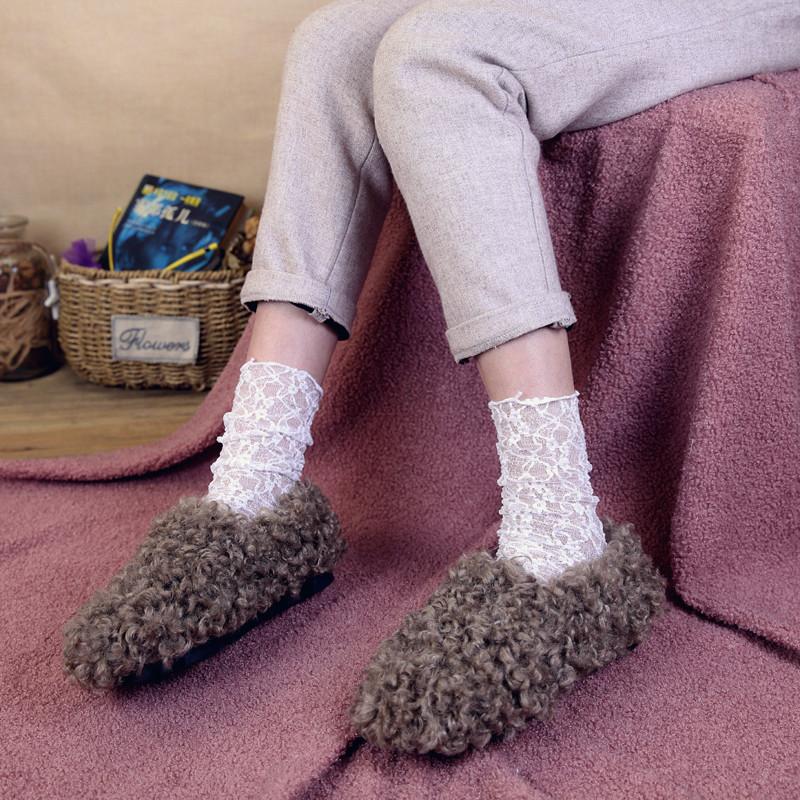 每年冬天我都会出 仙女蕾丝中筒袜子女复古韩版堆堆袜日系女袜