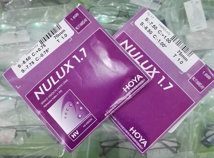 南京实体HOYA豪雅镜片1.7新锐HV膜1.74薄非球面眼镜片近视眼镜片