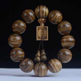 越南沉香手串虎皮纹木质手链文玩男女情侣款佛珠念珠饰品文玩礼物图片