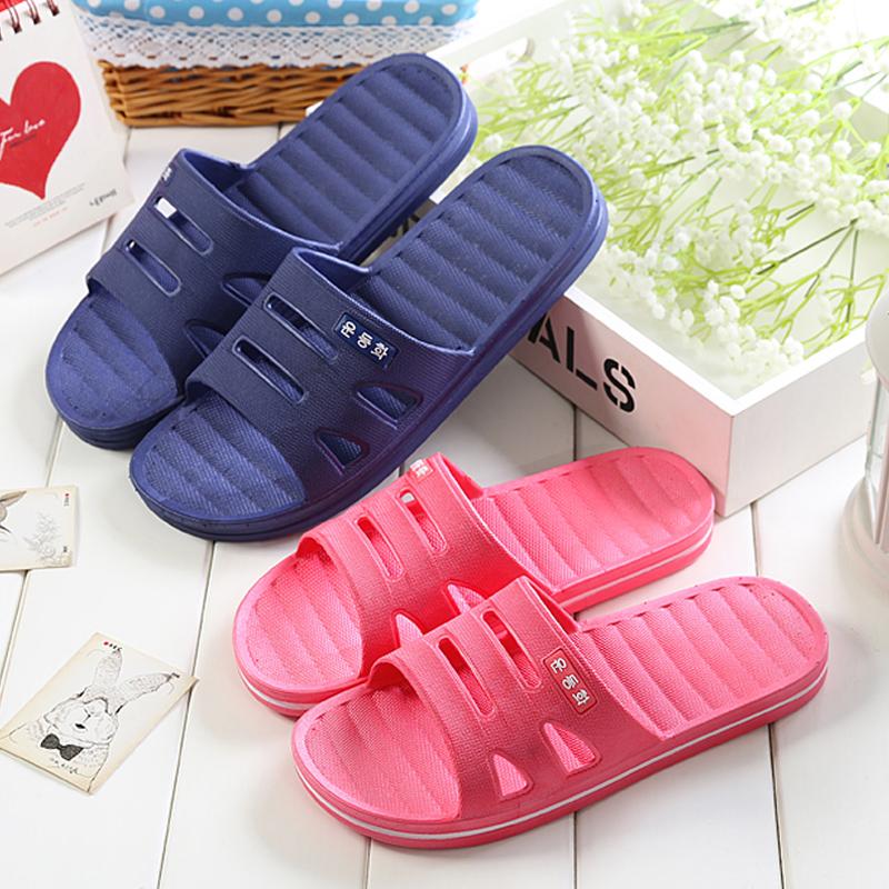 浴室拖鞋 情侣居家防滑漏水洗澡男女夏季地板凉拖鞋