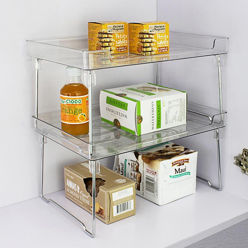 可叠加厨房桌面卫生间橱柜储物架