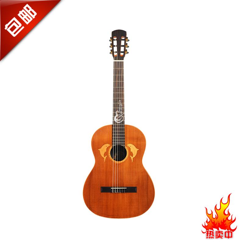 余佳音正品包邮德威海豚DeeWhy39寸正桶古典面单吉他CG-3
