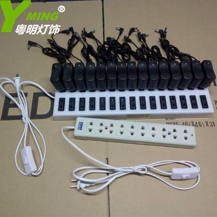 LED зарядка настольные лампы выход бар 30 отверстие зарядка строка вставить бар стол свет специальный упряжь доска