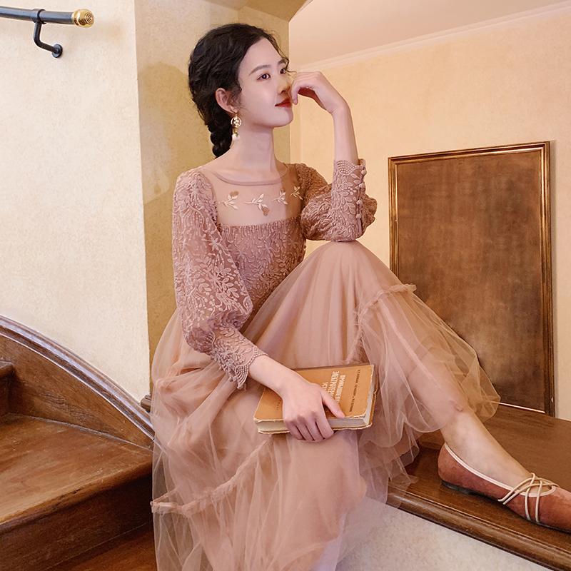 梅子熟了文艺仙女超仙网纱复古裙子热销871件限时抢购