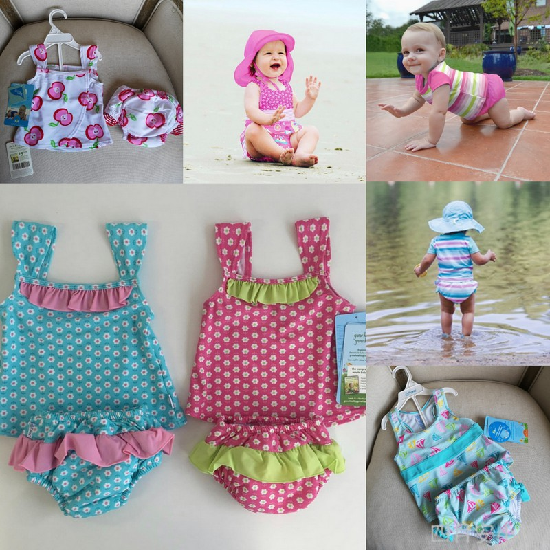 New spot I play summer boys and girls childrens baby one-piece swimsuit split swimsuit diaper swimsuit