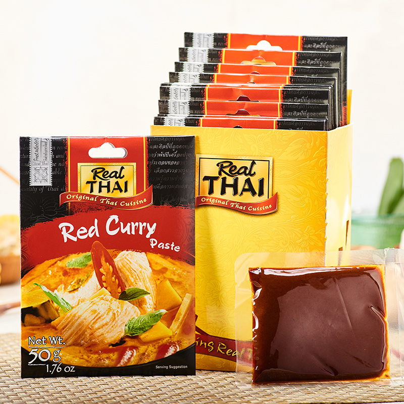 Thai food and Western food seasoning imported from Thailand: liertai red curry sauce 50g * 12 packages