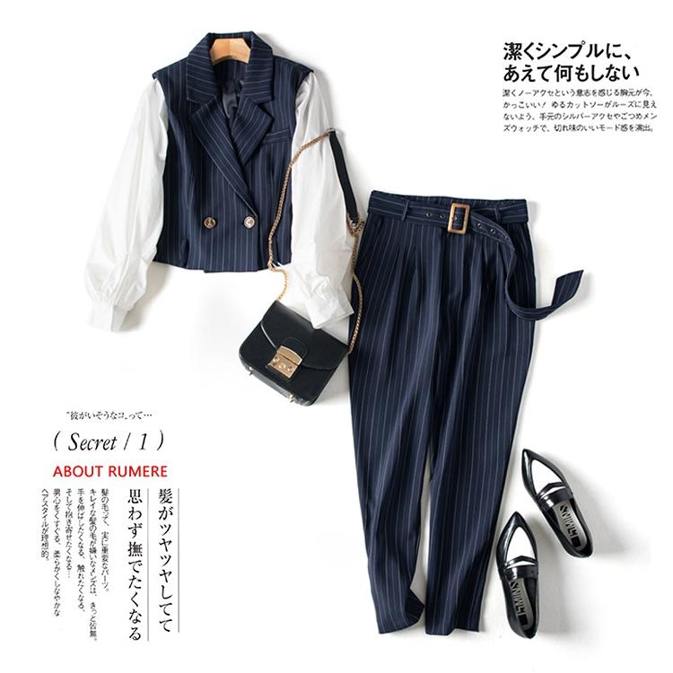职场时髦精,穿出好品位~短款西装外套 时尚长裤  套装