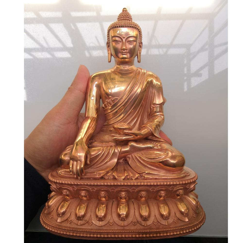 红铜纯铜释迦牟尼佛摆件家居供奉藏传佛教佛像工艺品西藏小佛像
