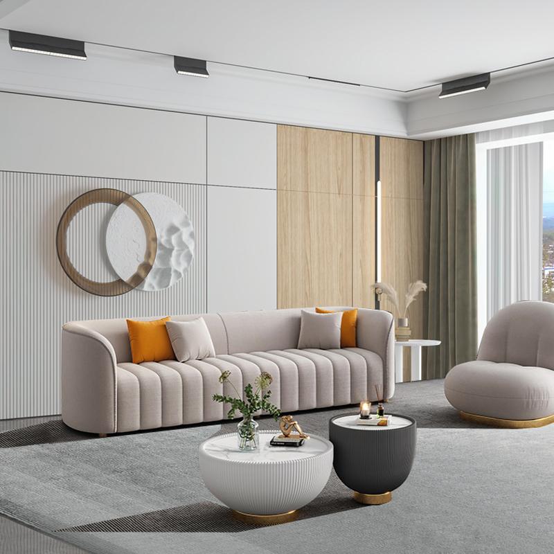 イタリア式の軽い贅沢な科学技術の布の芸術のソファーの成人はきわめて簡単です北欧のアメリカ式ソファーの仏山工場は家具を注文して注文します。