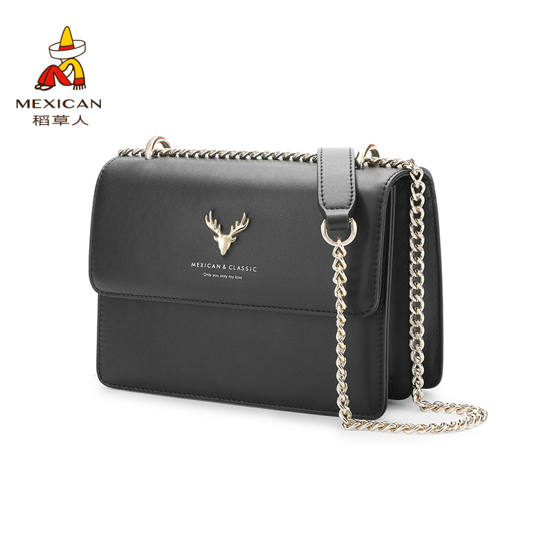 Scarecrow bag 2020 new fashion small CK bag Single Shoulder Messenger Bag women's versatile ins chain small square bag