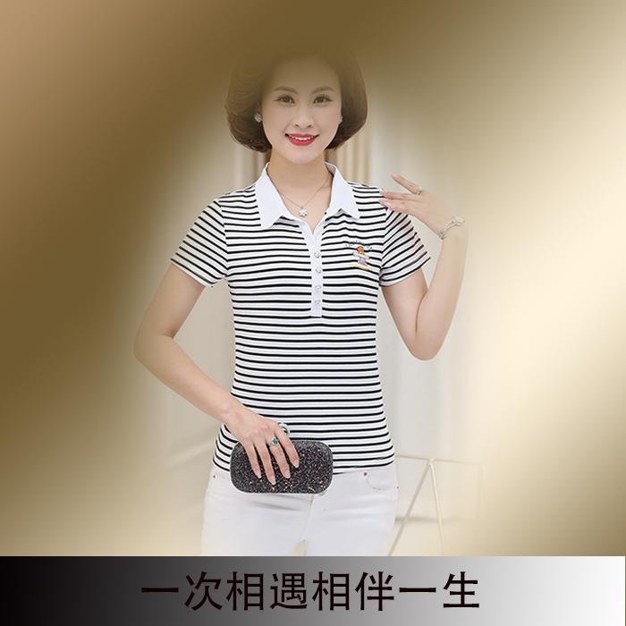 农村反领淘宝网乡村版大龄女装夏短袖t恤衫妈妈50-60岁中年休闲装