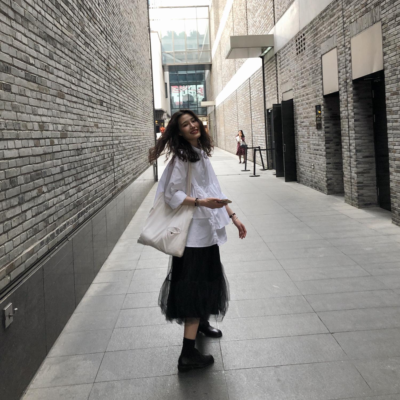 [新店开业 8折包邮]衬衫女设计感小众很仙的衬衣抖音同款气质洋气
