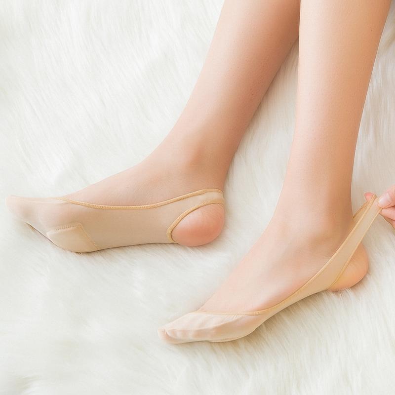 冰丝船袜女防滑不掉跟浅口脚底袜薄款半掌吊带高跟鞋隐形袜子女士