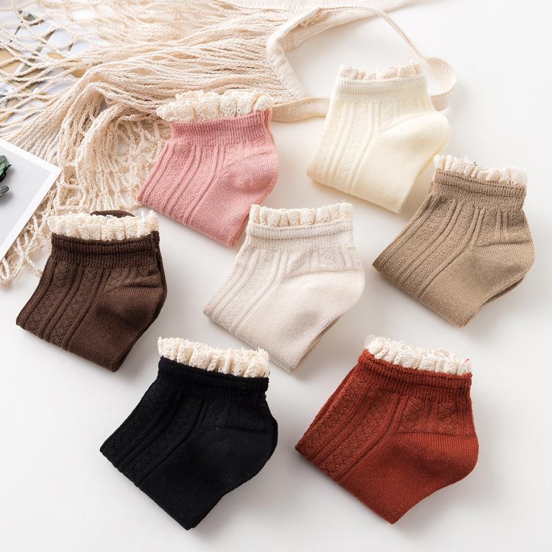 竹纤维袜子女短袜浅口韩国可爱船袜女日系花边黑色韩版纯棉短袜女