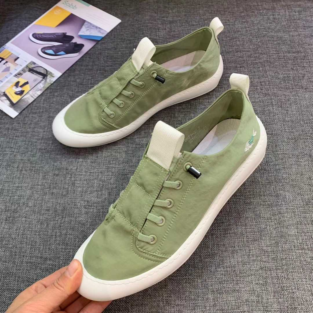2020 Europe station summer mens board shoes flat bottom one foot canvas driving tour daily fashion net red mens shoes