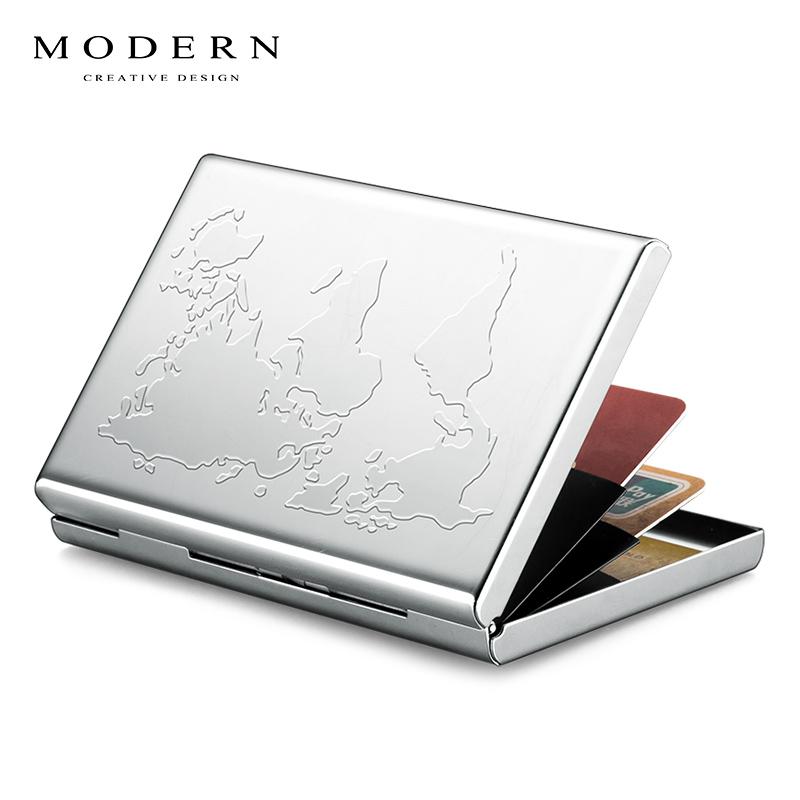 德国MODERN不锈钢金属卡包卡夹钱夹 钱包男女士零钱包钞票夹定制
