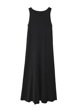 幼瓷针织吊带裙女2020年秋冬新款长款背心连衣裙无袖打底黑色长裙