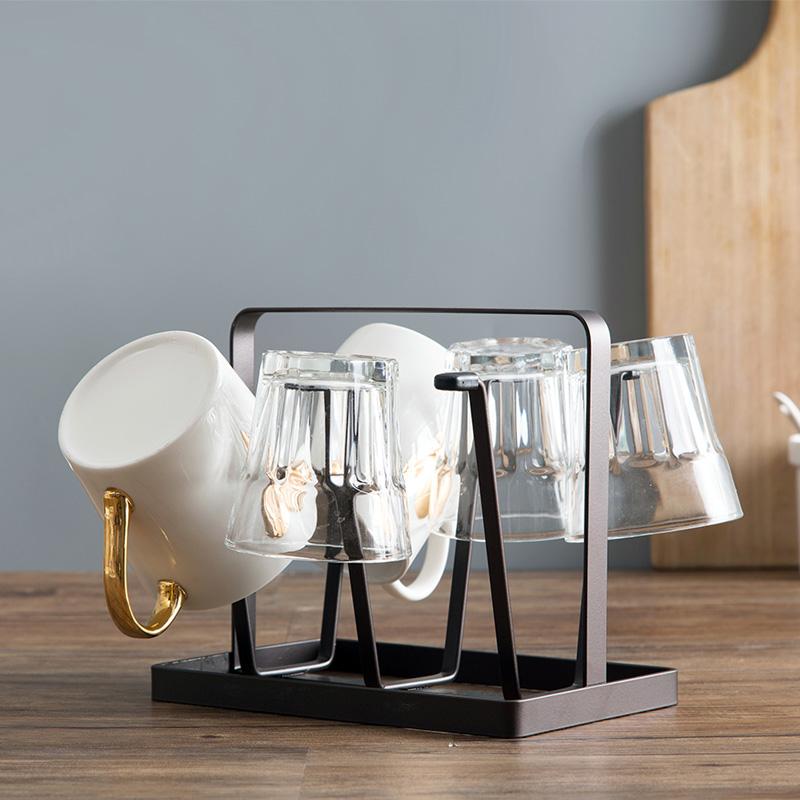 创意杯子收纳架杯子架家用放玻璃茶杯的置物架水杯挂架倒挂沥水架