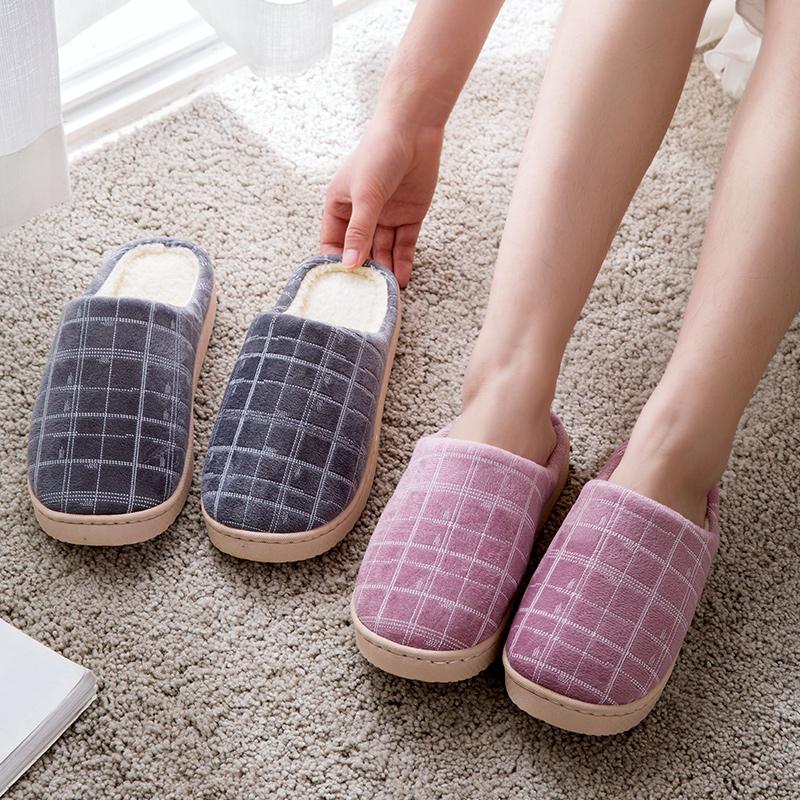 10-16新券居家家秋冬情侣厚底室内家用棉拖鞋