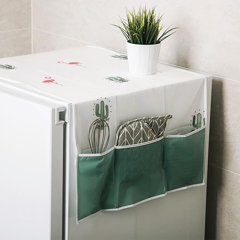居家家冰箱顶盖布防水家用防尘罩