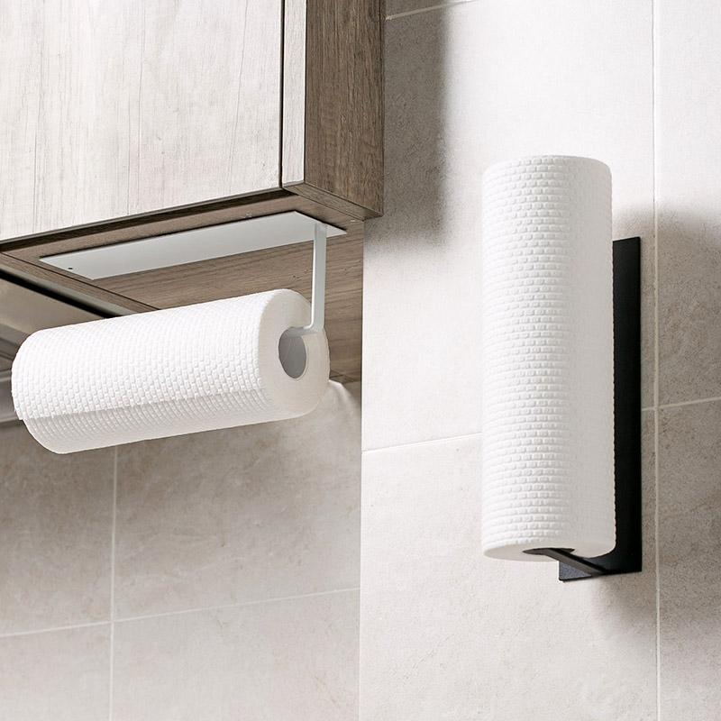 居家家碳钢纸巾架免打孔纸巾收纳架