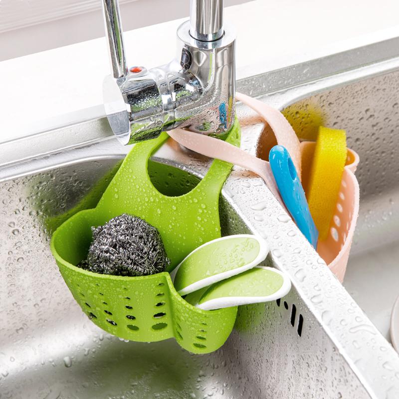 居家家水槽塑料瀝水籃收納掛籃廚房小用品廚具置物架收納架瀝水架