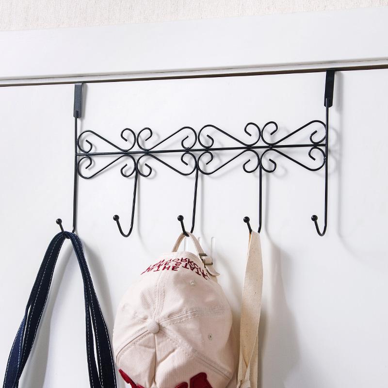 居家家 无痕免钉门后挂钩置物架挂衣钩 浴室厨房免打孔门上挂衣架