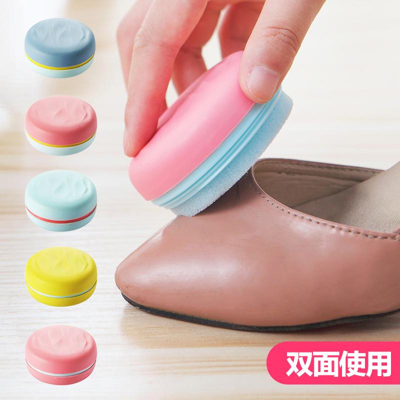 Портативный дуплекс обувной вытирать кожаная обувь масло губка крем для обуви обувной воск яркий воск удобство действительно поддержка губка вытирать