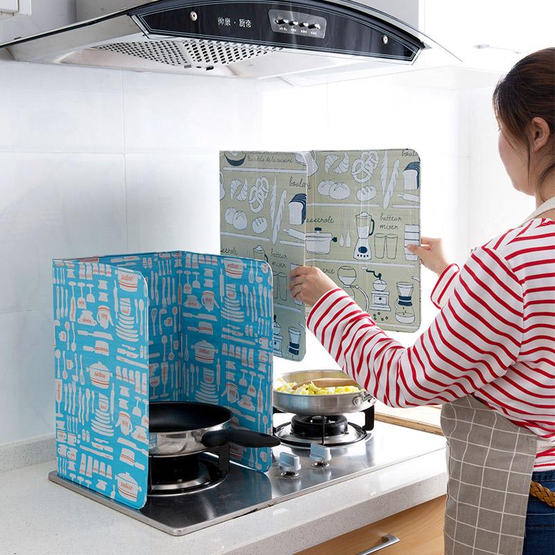 居家家煤气灶铝箔挡油板隔热板厨房炒菜隔油板家用灶台防溅油挡板