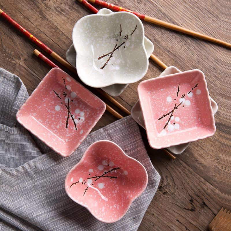Домой домой цветка сливы керамика небольшой блюдо сын домой соус материал блюдо творческий посуда небольшой есть блюдо блюдо вкус блюдо соус нефть блюдо