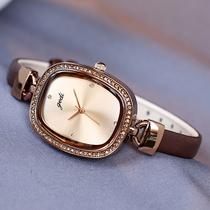 希欢正品手表女士名牌手表韩版简约气质时尚潮流镶钻学生法国小众