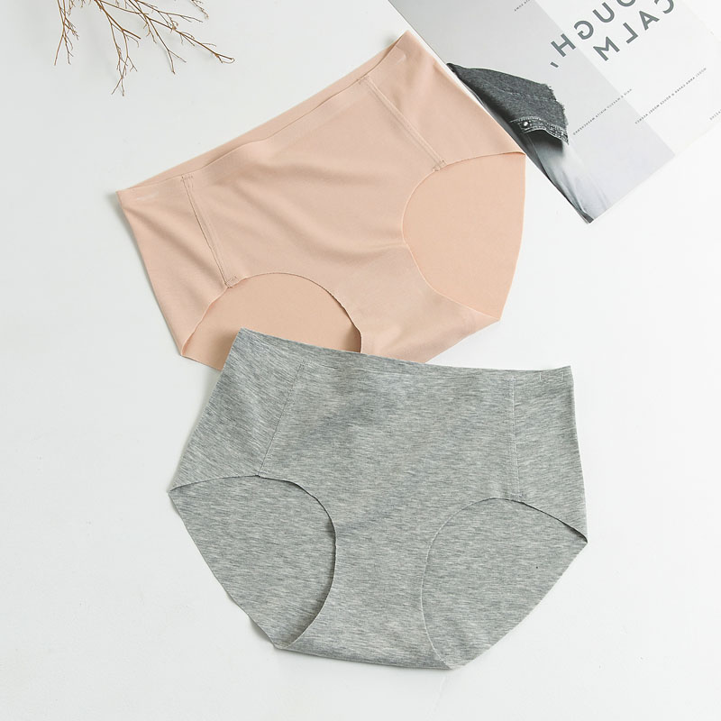 2 arbitrary cut modal womens underwear without hemming, traceless underwear without hemming, briefs with pure color and pure cotton inside