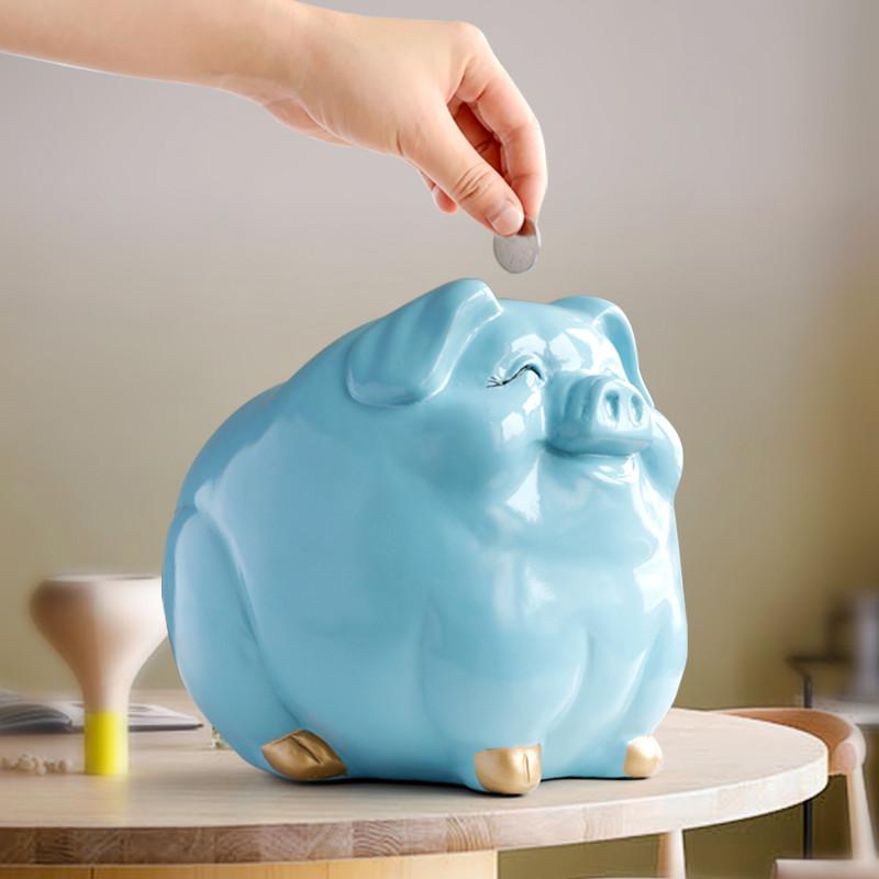 限时2件3折可爱儿童存钱罐卡通小猪储蓄罐大号储钱罐创意儿童节礼物桌面摆件