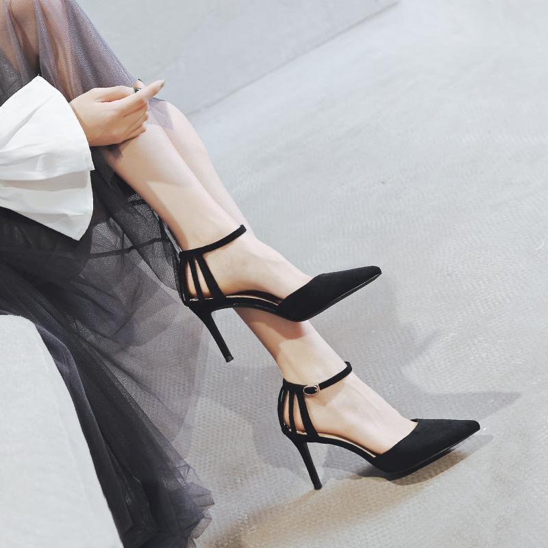新款女鞋春款2020一代佳人高跟鞋仙女风春秋网红百搭流行凉鞋性感