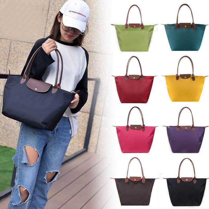 Waterproof dumpling bag nylon dumpling bag Oxford cloth folding bag shopping bag beach bag traveling bag one shoulder portable bag