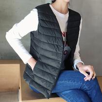 韩国代购女装2021秋款韩版修身百搭保暖轻薄马甲鸭绒背心外套上衣