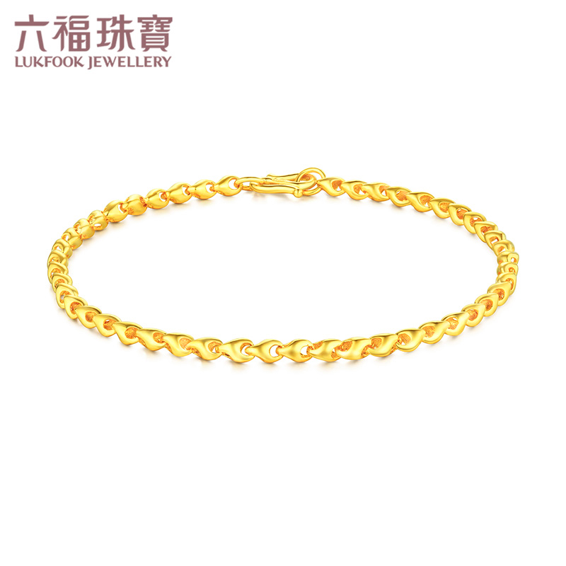 Liufu Jewelry Gold Bracelet Female Grain (Encouragement) Foot Gold Bracelet Gift Price B01TBGB0085A