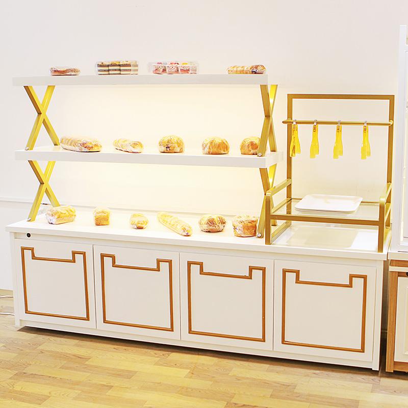 铁艺面包柜面包展示柜实木中岛柜糕点柜饼干架子展示架蛋糕展示柜