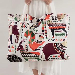 幼儿园装被子袋子手提包纯棉印花帆布整理收纳包手提包