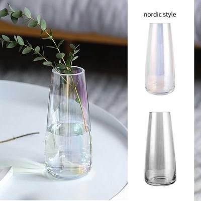 花瓶摆件客厅插花干花玻璃瓶小ins风北欧鲜花透明百合玫瑰富贵竹