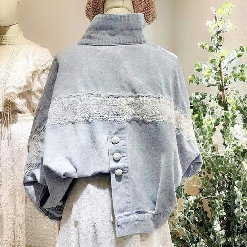 Small fresh light blue very fairy cowboy jacket womens autumn 2021 popular short loose Korean versatile jacket