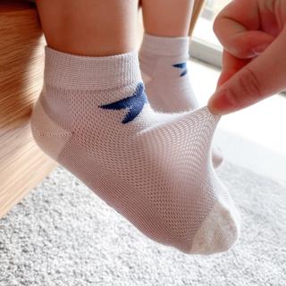 澳洲长绒精梳棉 儿童网眼袜卡通薄款袜子男女童短筒袜中大童 防臭