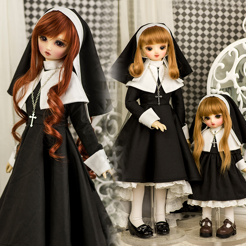 Amors brand new baby suit BJD baby size nun cos dress