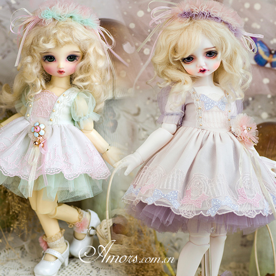 Amors suit BJD baby dress SD foreign dress 4 points RL giant baby 6 points vanilla macaroni dress Limited